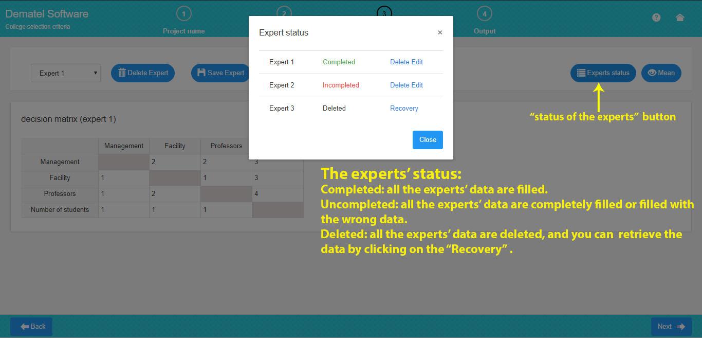 dematel expert status